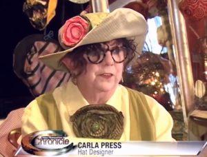 Our hat designer and maker, Carla Press